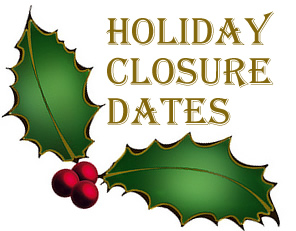The Town office will be closed for Christmas and New Years. Click here for all the details.